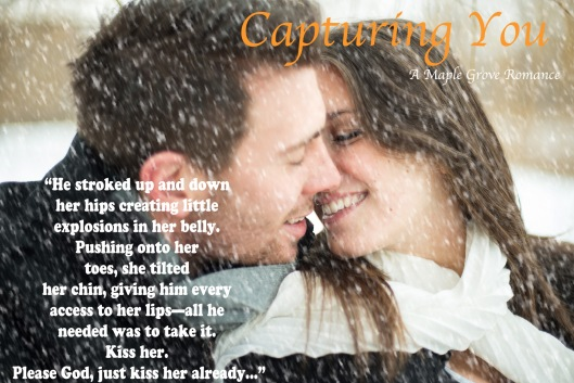 Young couple being affectionate in winter